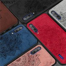 For Xiaomi Mi CC9 Case Silicone Rubber Shell Funda TPU Cloth Texture Back Phone Cover