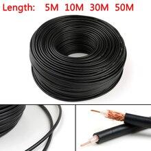 Areyourshop RG58 РЧ коаксиальный кабель соединитель 50ohm коаксиальный приемопередатчик Пигтейл 1 м 5 м 10 м 30 м 50 м Лидер продаж провода кабель