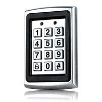 Metal à prova dwaterproof água rfid senha do teclado de controle acesso 1000 usuários leitor cartão teclado chave fobs senha acesso fechadura da porta con|Acessórios de Controle de acesso| |  -
