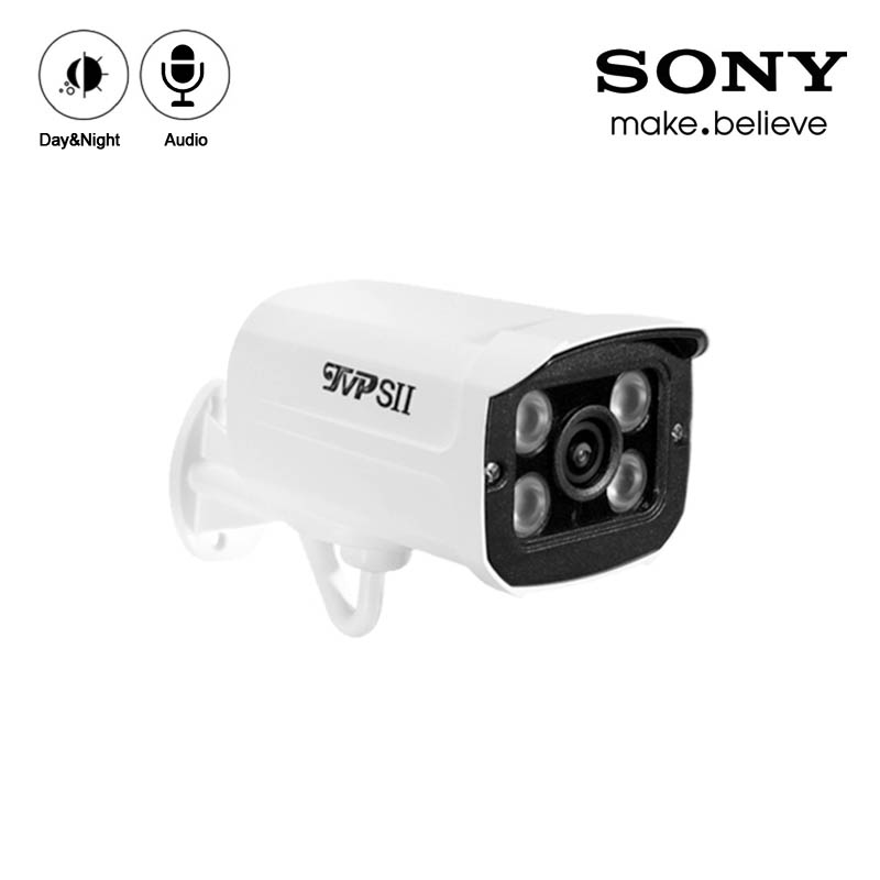 White Color Four Array Infrared Leds 2mp/4mp/5mp/8mp 4K Metal Outdoor IP66 Audio Surveillance Security CCTV AHD Camera