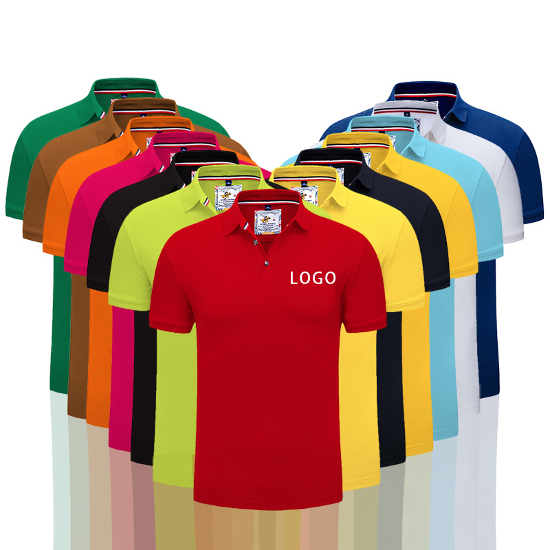 Men's Personalized   polo   shirt Custom Embroidery overalls man's summer for work DIY your own Short Sleeve   polo   collar shirts