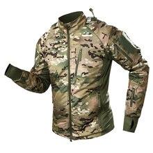 Мужская Военная тактическая куртка ветровка камуфляжная флисовая