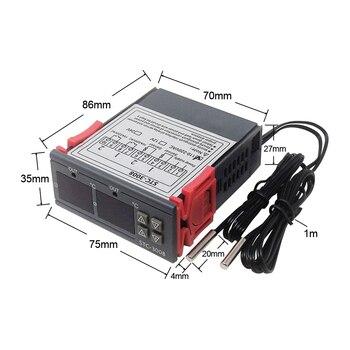 Controlador Digital de temperatura termostato STC1000, STC3008 W1029 12V 24V 220V Termorregulador 2