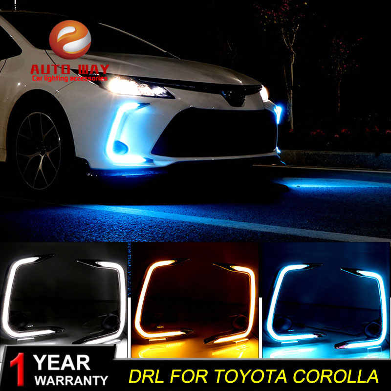 Case Voor Toyota Corolla 2019 2020 Draaien Signaal Relais Auto DRL 12V LED Toyota Corolla Dagrijverlichting Fog lamp