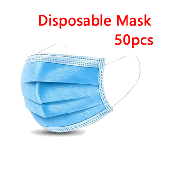 50pcs respirator Disposable Face Mask mouth Mask Protective caps dropshipping pm2.5 wholesale  Anti Odor Smog Custom dust masks