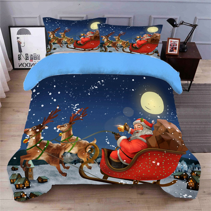 Bedding Set Christmas Duvet Cover Quilt Cover And Pillowcase 4pcs Twin Queen Quilt Cover Bed Linen Comforter Bedding King Sets