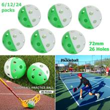 6/12/24 Pcs 72 Mm 26 Lubang Bola Lantai Plastik Bola Golf Pickled Herrings Aliran Udara Bola Tiupan Bola Berongga golf Dalam Praktek Olahraga Bola(China)