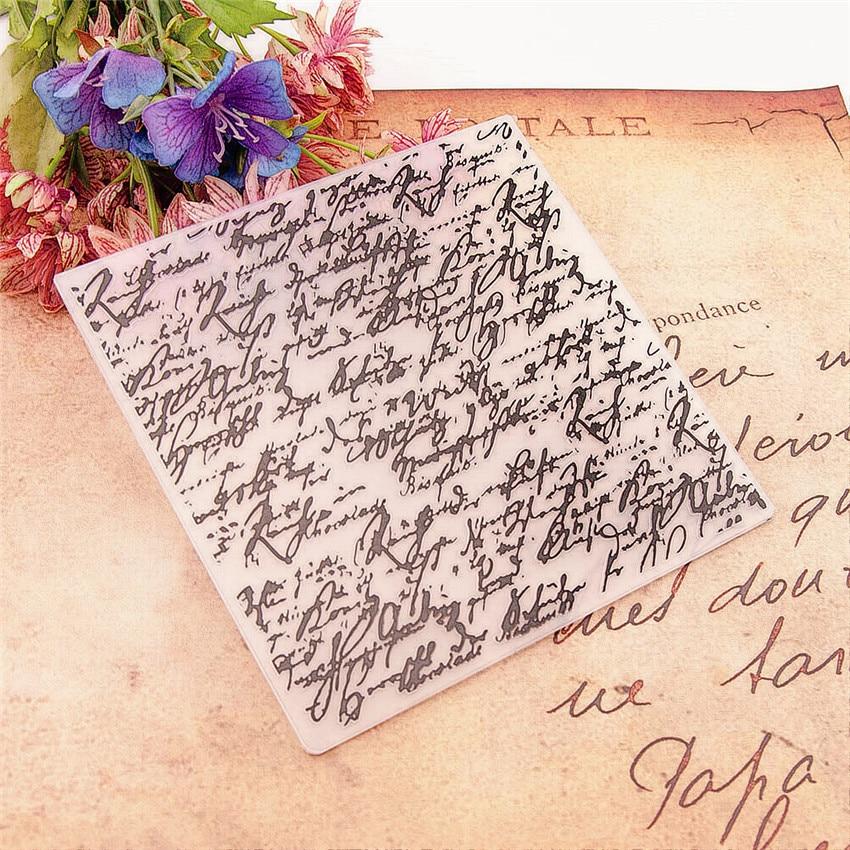 15*15cm Sweet Diary 3D Embossing Folders Plastic Bump Scrapbooking DIY Template Fondant Indentation Cake Photo Album Card Makin