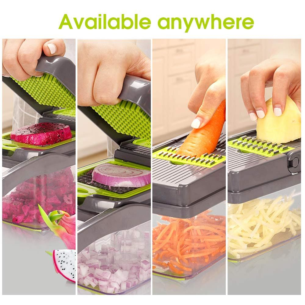 Mandoline Slicer and Vegetable/Fruits Cutter with 7 Dicing Blades as Fruit Peeler and Cheese Grater
