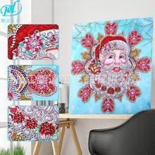 Hot Sales New Products Santa Claus Holiday Diamond Painting 5D Shaped Corridor Decorative Lp8018