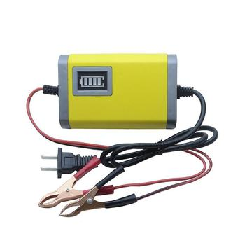 12V 2A Flat Plug Auto Car Motorcycle Battery Charger for Tender Trickle Maintainer Boat Universal Charger image