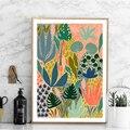 Современные разноцветные абстрактные садовые растения настенная живопись холст картина постеры и принты галерея проход уникальный домашн...