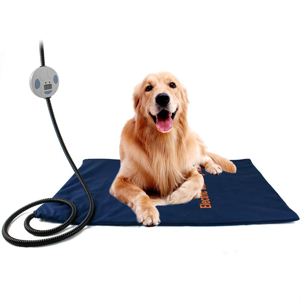 Pet Heating Pad Electric Heating Pad for Dog Cat Human Indoor Warming Mat Waterproof Adjustable Heating 24 x 18