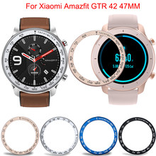 Stainless Steel Tachymeter Case For Xiaomi Amazfit GTR 47MM 42MM Watch Bezel cover Bezel Ring Dial Scale Speed Protective Cases(China)