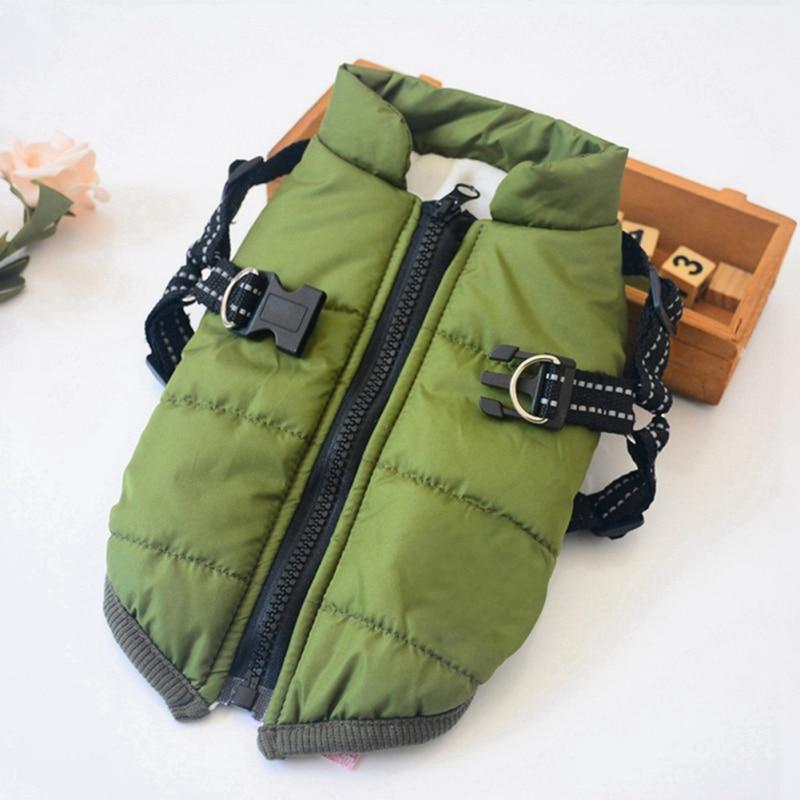 Зимние куртки для собак, теплый жилет, поводок для собак, одежда для маленьких собак, зимняя одежда для чихуахуа йоркширского терьера Пальто и куртки для собак      АлиЭкспресс