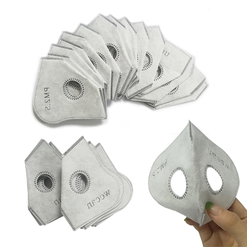 PM2.5 Activated Carbon Dustproof Mask Filter 4 Layer Replaceable Filter For Anti Pollen Allergy Dust Mouth-muffle Respirator