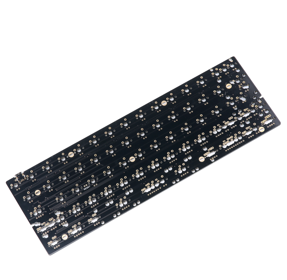 DZ60 Custom mechanical keyboard PCB 60 keyboard support arrow key alu plate gateron switch stab