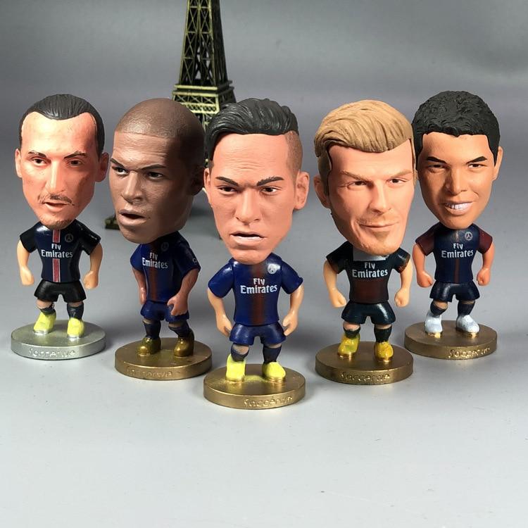 Paris Football Figurine Within Neymar MBA Pedy Maria Cavani Football Doll Ornaments