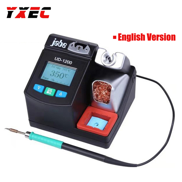 محطة لحام ذكية دقيقة بدون الرصاص Jabe UD 1200 تسخين سريع 2.5S مع أدوات نظام تسخين مزود طاقة ثنائي القناة