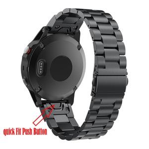 Image 2 - Correa de reloj para Garmin Fenix, pulsera de acero inoxidable de liberación rápida, 22 y 20MM, 6X, 6S, 6 Pro, 5X, 5, 5S Plus, 3HR