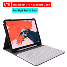 Buy Bluetooth 3.0 Tablet Keyboard Case For iPad Pro 11 inch Mediapad PU Flip Leather Protective Cover For Apple iPad With Keyboard directly from merchant!
