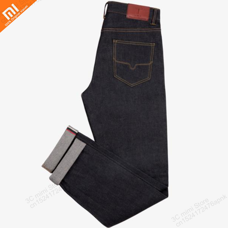 Xiaomi mijia DMN classic jeans upgrade version stretch comfortable breathable men's business casual traveler solid color jeans Smart Remote Control Consumer Electronics - title=