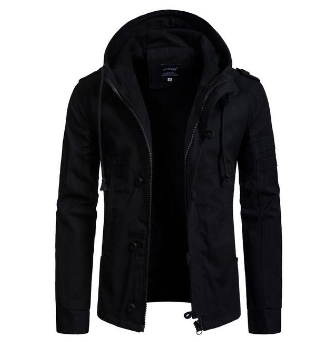 Hot 2020 Men's Jacket Military Wide-waisted Coat Casual Cotton Hooded Windbreaker Jackets Overcoat