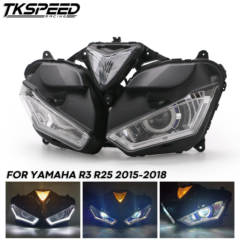LED Angel Eye HID Projector For Yamaha YZF R3 2015-2018 55W