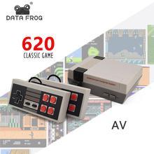 Mini Classic Game Machine TV Handheld Video Game Console AV Port 8Bit Built-in 500/620 Dual gamepad Game console EU/US/ UK Plug