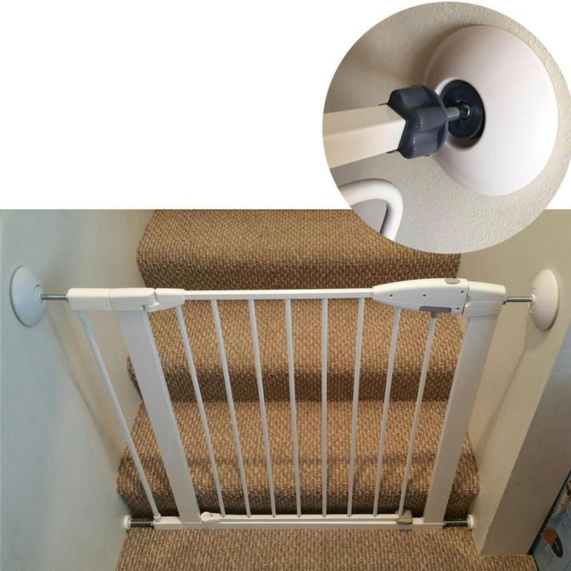 2 Pc/set  Pet Gates Wall Guard Safe Wall Bumpers Guard Wall Protector Cups Pads For Pressure Gate Door Stairs
