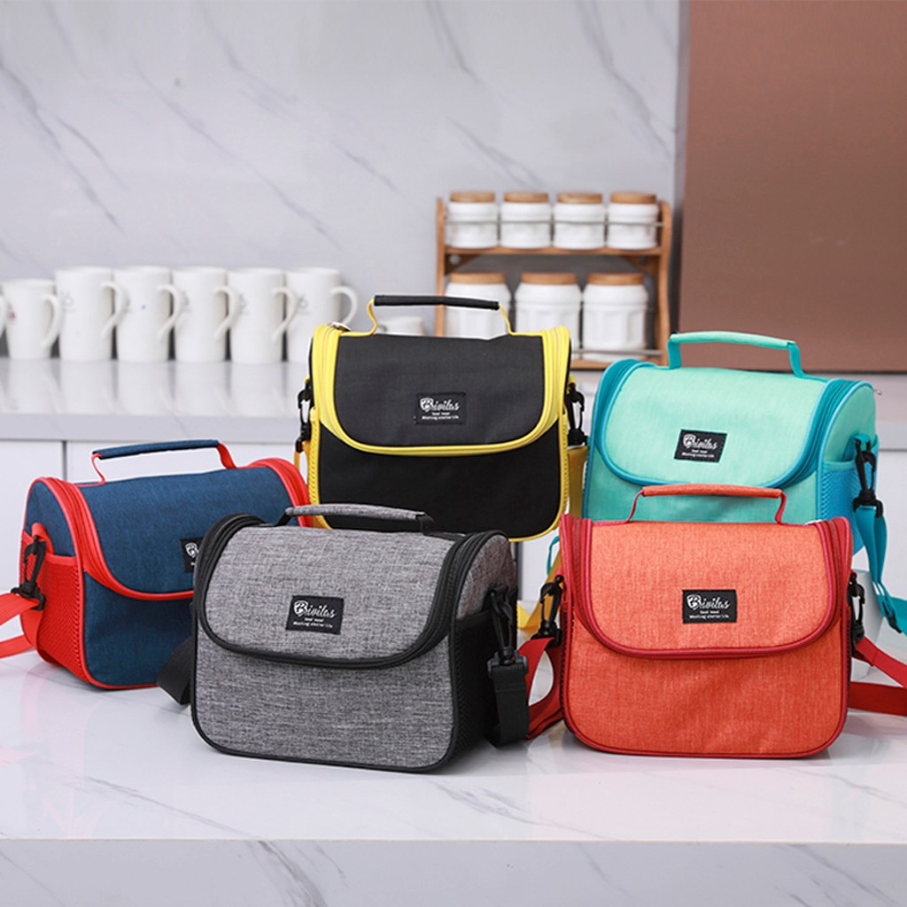 Portable Lunch Bag 2019 New Thermal Outdoor Fashion Simple Style Large Capacity Waterproof Lunch Bag Lunch Container School Food