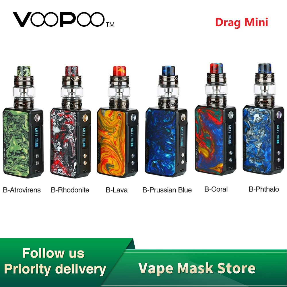 Original VOOPOO Drag Mini TC Kit With 4400mAh Drag Mini Mod & 5ml UFORCE T2 Tank & Upgraded Firmware E-cig Vape Kit Vs Drag 2