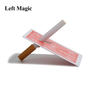 Cigarette Thru Through Card Close Up Magic Tricks For Professional Magician Magic Illusions Stage Truco De Magia Easy To Do image