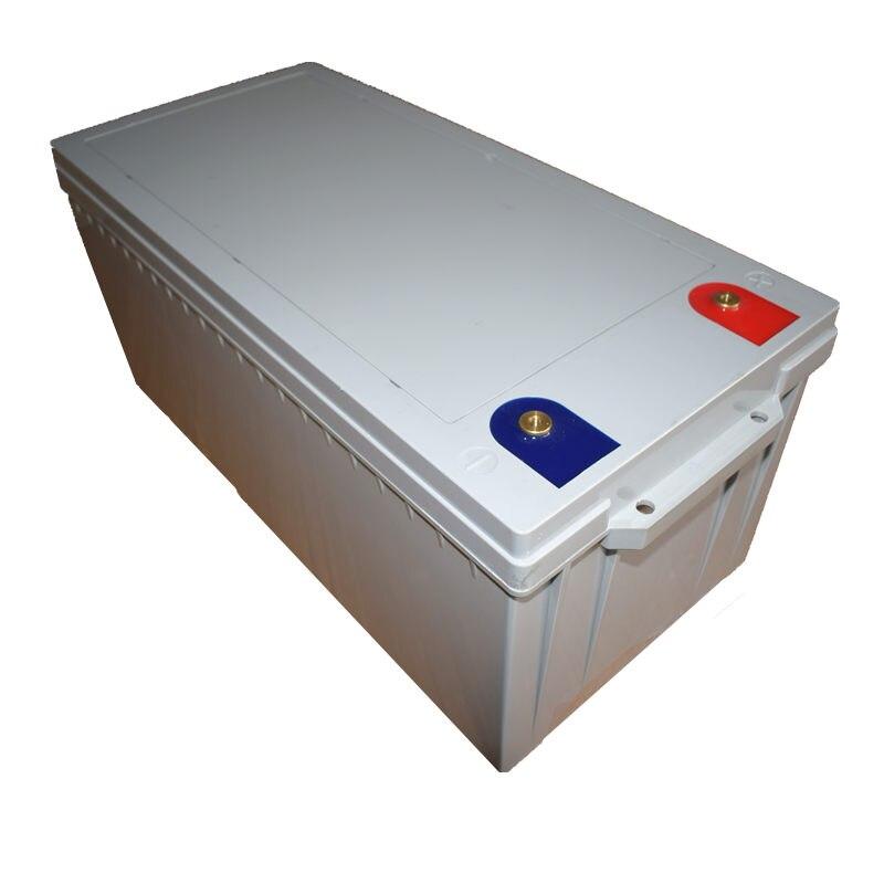 Batterie au Lithium LiFePo4 12V 300AH avec chargeur BMS & LCD et 14.6V sans entretien pour le stockage d'énergie solaire de bateau de maison