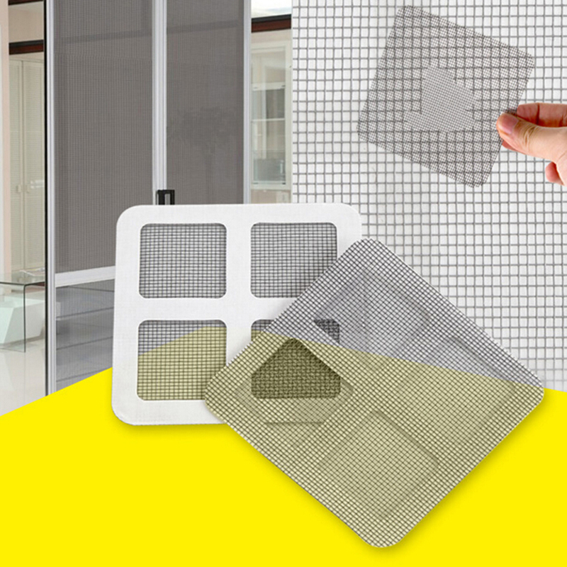 3pcs Screen Window Repair Patch Patch Curtain Curtain Mesh Window Fill Hole Anti-mosquito Fly Repair Patch