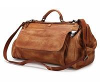 MAHEU Top Grade Schwarz Kaffee Echtem Leder Reisetasche Mit Metall Schnalle Männer Mode Reise Handtaschen Anti Theft Designer Tasche