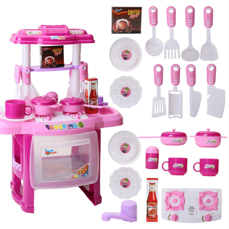 Promotion Price! New Kids Kitchen Set Children Kitchen Toy Cooking Simulation Model Colourful Educational Toy For Girl Baby D229