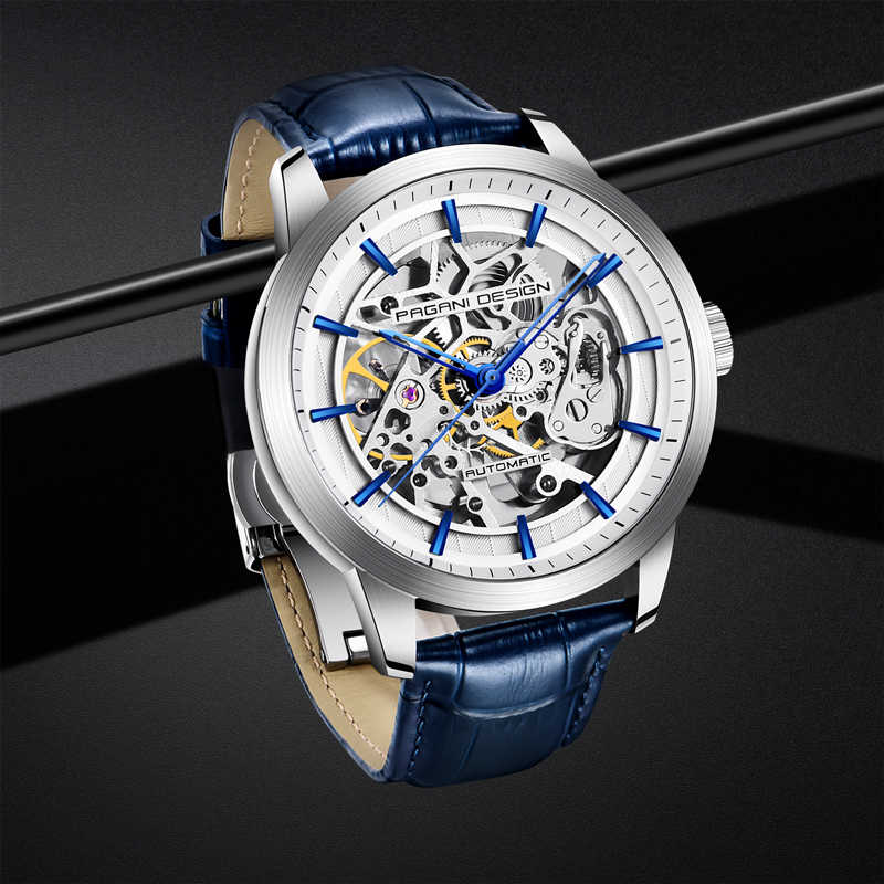 2020 New PAGANI DESIGN Men's watches top brand luxury Mechanical skeleton watch men simple automatic watch men Relogio Masculino