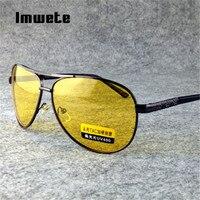 Imwete Polarisierte Sonnenbrille Männer TAC Sonnenbrille Weiblich Männlich Nachtsicht Driving Brille UV400 Gelb Objektiv Brillen