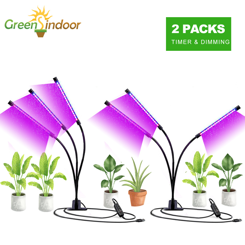 Indoor LED Phyto Lamp 9W 18W 27W Timer Full Spectrum Led Grow Light USB Lamp For Plants Fitolamp Grow Box Light Plant Seedlings