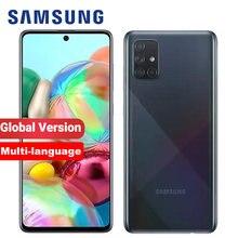 100% original samsung galaxy a71 a715f/ds 8gb 128gb versão global telefone móvel 6.7