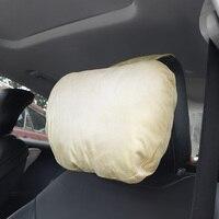 Araba boyun yastık iç aksesuarları nefes yumuşak araba kafalık baş boyun desteği araba yastığı