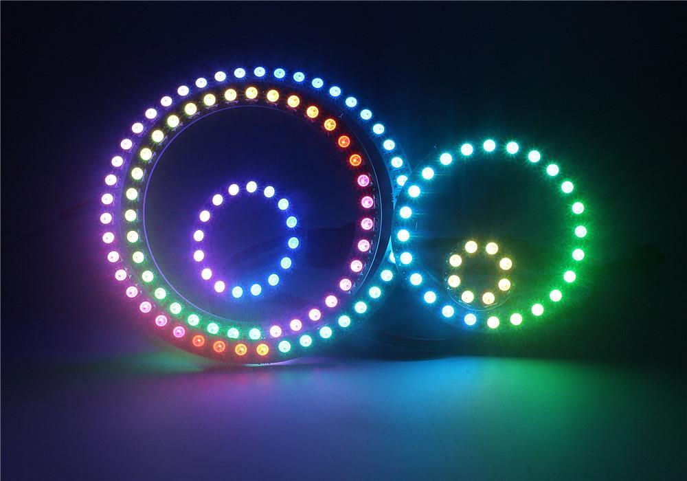 Individual Ring 8 16 24 35 45 LED 5050 RGB Ring WS2812 IC Built-in Module Pixel Strip Light