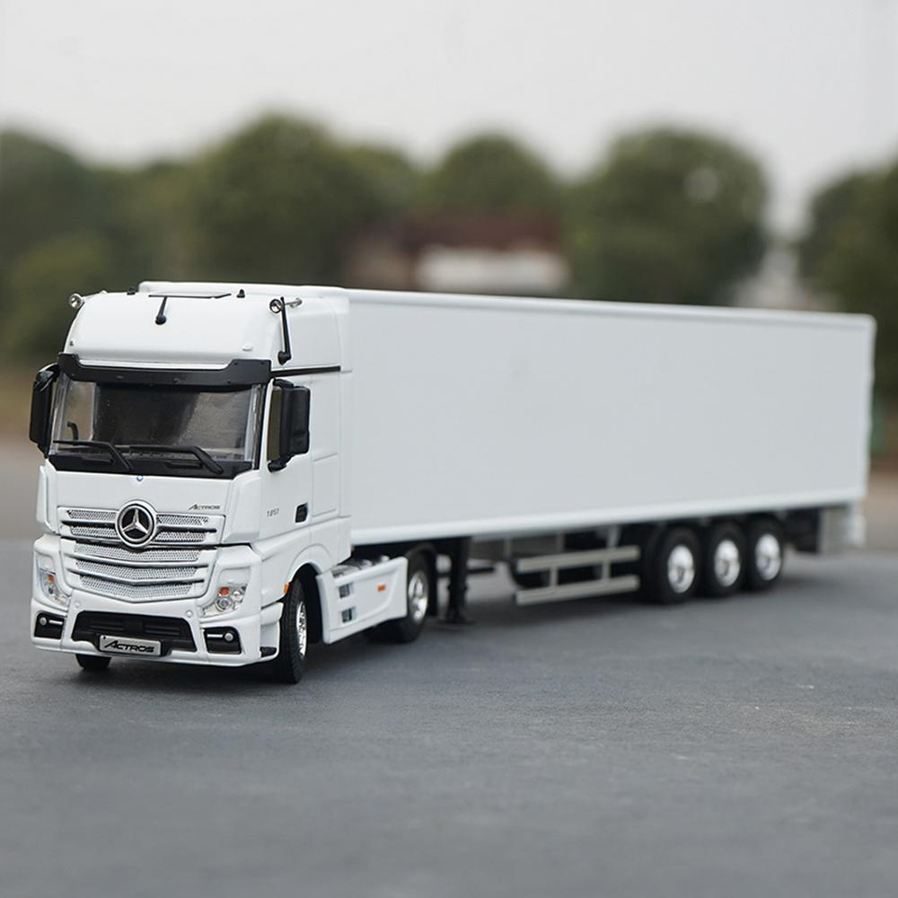 1/50 Mercedes Benz New Actros MP4 Container Truck Trailer White Diecast Car Toy