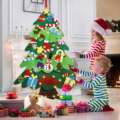 26 pçs diy sentiu natal led cordas árvore com árvore de natal parede pendurado presentes de natal decorações de natal para festa em casa 2