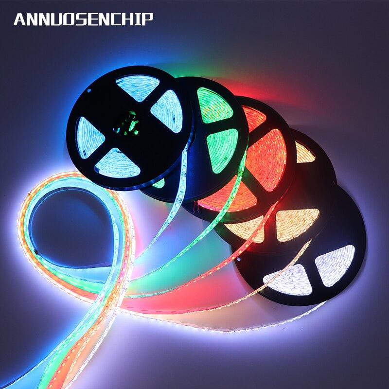 12 v 120 led/m 5 m/lote 2835 tira conduzida luz flexível branco branco quente verde amarelo vermelho azul 2835 tira conduzida não-impermeável