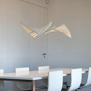 Image 4 - Modern LED Chandelier lighting Nordic loft Black/White hanging lights living room home deco Pendant lamp restaurant Bar fixtures