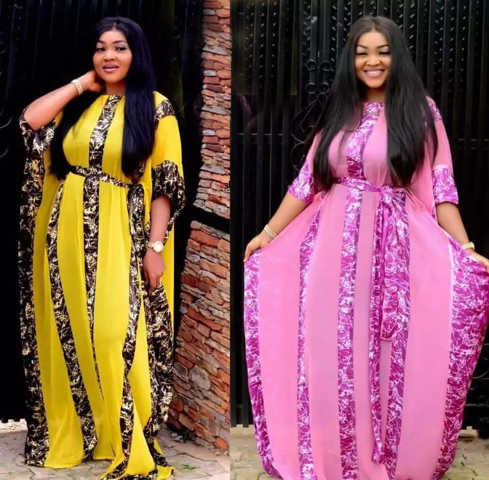 2019 New Arrival Sexy Fashion Style African Women Polyester Printing Plus Size Long Dress