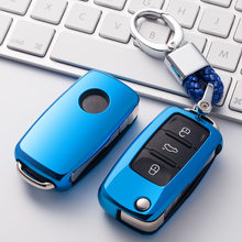 Soft TPU Car Key Case For VW Golf Bora Jetta POLO GOLF Passat Skoda Octavia A5 Fabia SEAT Ibiza Leon Car Accessories Protection(China)