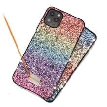 여자 럭셔리 선물 전화 케이스 아이폰 11 프로 맥스 11pro 컬러 점진적 반짝이 하드 케이스 아이폰 xs 맥스 케이스, CKHB TM